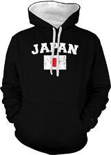 Japan Country Flag Japanese Nippon Pride Football Soccer 2-tone Hoodie Pullover