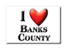 SOUVENIR USA -  BRAND NEW GIFT FRIDGE MAGNET AMERICA I LOVE BANKS COUNTY