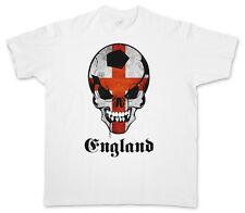 CLASSIC FOOTBALL ENGLAND SKULL FLAG T-SHIRT – Fußball Fan Hooligan UK Britain
