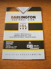 13/02/1990 Darlington v Boston United [Non League Season] . No obvious faults, u