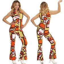 4554ad7e81f 70er Chic Disco Queen Girl OVERALL Damen Kostüm Hippie Jumpsuit Schlagermove  60e