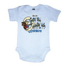 Rockabilly Baby Body Strampler COWBOY Blau Biker Western V8