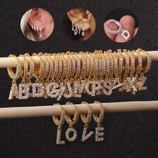 Fashion Helix Cartilage Earring English Letters Zircon Ear Piercing Ring Jewelry