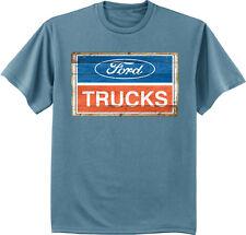 Ford Trucks sign truck decal logo design blue men's size tee shirt t-shirt
