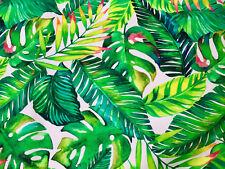 Banane Tropical Feuilles de Palmier Tissu Coton Rideau Robe Matériel 280cm Large