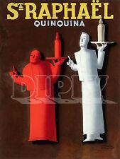 PLAQUE ALU DECO REPRO AFFICHE PUBLICITE ST RAPHAEL QUINQUINA ALCOOL SERVEUR 1938