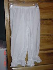 ~Girls-Bloomers / Pantaloons -sizes 1-14 ~ White *Civil War/Pioneer
