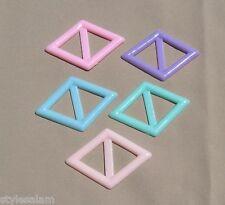 Tee shirt clip pull holder diamond shape pastel blue pink peach green lavender