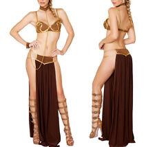 Star Wars Princess Leia Slave Bikini Costume Sexy Womens Cosplay Dress Halloween