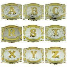 Big Initial Belt Buckle Monogram Letter Alphabet Texas USA Rodeo Western Cowboy