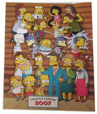 "Simpsons Fox Tv Show Mini Poster 2007 14""X10 1/2"" Springfield Elementary School"