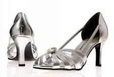 Señoras Plata Noche De Graduación Dama De Honor Boda Zapatos Fiesta Leona