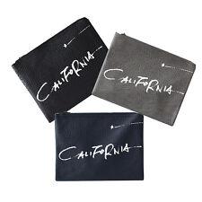 Korea New Fashion Double California Clutch Bag Pouch Purse Faux Leather Unisex