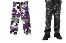 KIDS Camo Cargo Pants BDU Style Child Boys Girls Military Army USAF Navy USMC