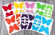 Rainbow Of Butterflies Vinyl Wall Art Stickers Kids Bedroom Decals  7 colours 56