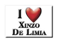 SOUVENIR ESPAÑA GALICIA MAGNET CORAZON SPAIN I LOVE XINZO DE LIMIA (OURENSE)