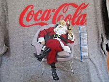 Coca-Cola Santa Claus Christmas Gray Short Sleeve T-Shirt Young Men's