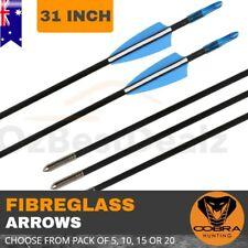 FIBREGLASS FIBERGLASS ARROWS HUNTING TARGET SHOOTING COMPOUND BOW RECURVE