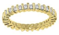 Eternity Wedding Ring I1 H 0.90Carat Round Cut Diamond Bar Set 14Kt Yellow Gold