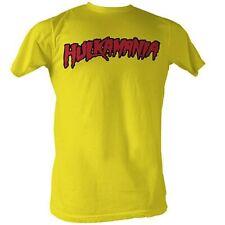 Hulkamania Yellow Adult T-Shirt Hulk Hogan Costume WWF WWE Wrestling Wrestler