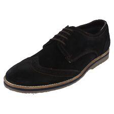Mens Hush Puppies Suede Leather Brogue/Toecap Lace Up Shoe  Sebastien Wingtip