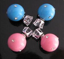 XL Doppio Perle Sfera Orecchini Tribale Shamballa Strass Cristallo