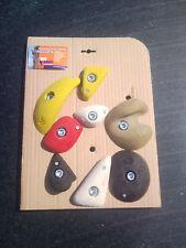 8 Klettergriffe Set Gr. S+M+L, Kindergriffe, Spielplatz, Training, mit Schrauben