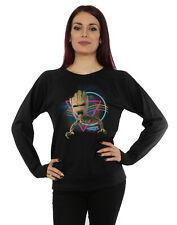 Marvel Women's Guardians of the Galaxy Neon Groot Sweatshirt