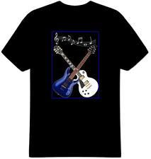 Cruzado guitarras Camiseta 100% Algodón Banda de Música Guitarra eslogan Sport Gratis Reino Unido P&p