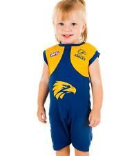 AFL Toddler Baby West Coast Eagles Short Footysuit Jumpsuit Unisex