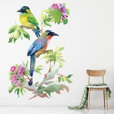 Prachtige vogels Tropische bloemen Muursticker WS-47580