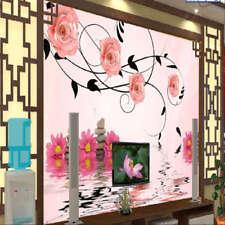 Fresh Pink Rose 3D Full Wall Mural Photo Wallpaper Printing Home Kids Decoration