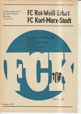 OL 83/84  FC Karl-Marx-Stadt - FC Rot-Weiß Erfurt