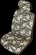 Green Hibiscus Surf Hawaiian Separate Headrest Cover