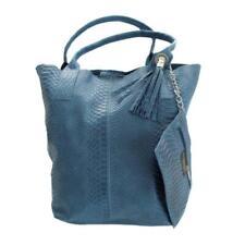 Damen Handtasche Set Echtleder Krokodilleder Tasche Schultertasche Anhänger