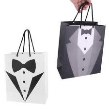 1/2pcs Wedding Party Tuxedo Paper Gift Carry Bags Bridegroom Gentlemen Accessory