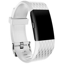Recambio Deportivo Silicona Correa de reloj brazalete para carga Fitbit 2 #