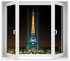 Sticker fenêtre trompe l'oeil Paris