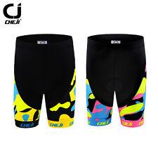 CHEJI Childs Cycling Shorts Padded Kids Youths Cycling Bike Shorts Pink/Yellow