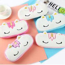 Cute Unicorn Plush Pencil Case Pen Bag Coin Purse Makeup Stationery Pouch Gifts