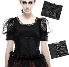 Top haut t-shirt gothique lolita burlesque manche ballon dentelle lacé Punkrave