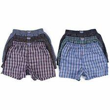 Men Woven Boxer Shorts Loose Fit Cotton Underwear Fly Pants S M L XL 2XL  3XL