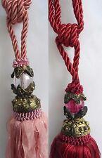 Pair Of Beautiful Curtain Tassel Tiebacks Pink,Red