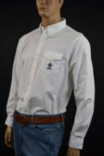 Ralph Lauren Custom Bleecker White Long Sleeve Shirt/ Blue Tennis Racket S NWT