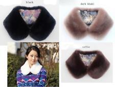 Womens Elegant  Faux Fox fur Scarves Neck Warmer Wraps  Peter Pan False Collar