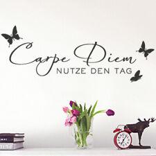 Wandtattoo Wandsticker Wandaufkleber Flur Spruch Carpe Diem Schmetterlinge W723