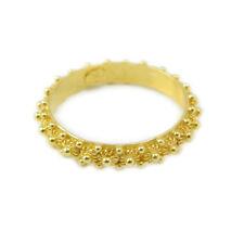 Fede sarda argento anello sardo filigrana sarda fascia 1 giro argento dorato
