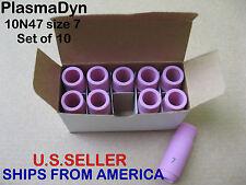 TIG Welding Gas Lens Cup *10N47 #7 *Set of 10 *SHIPS FROM America *U.S. Seller