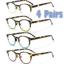 3 4 Pairs Mens Womens Spring Hinge Horned Rim Reading Reader Clear Glasses 1 - 3
