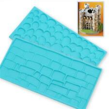Fondant Embosser Mold Cobble& Brick Wall Cake Decorating Pattern DIY Mold New LA